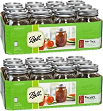 product image for Ball Regular Mouth Pint 16-oz Mason Jar with Lids and Bands (Pack of 24)