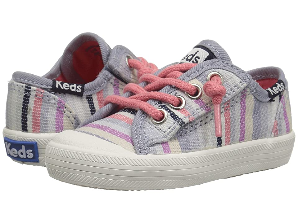 Keds Kids Kickstart Seasonal Toe Cap (Toddler/Little Kid) (Relaxed Multi Stripe Textile) Girls Shoes