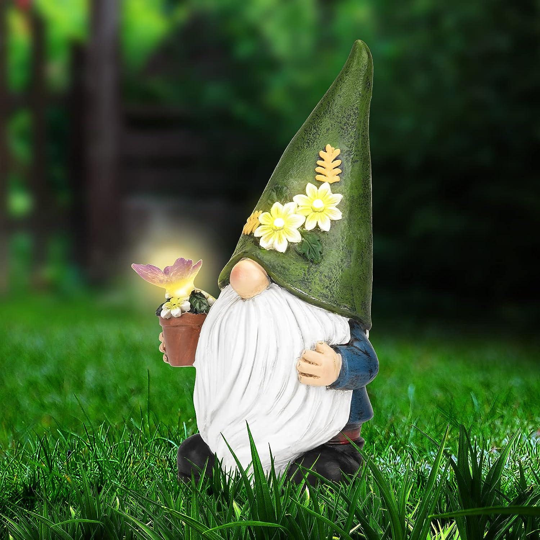 Garden Gnome Statue Regular discount - Decor Figurine Statues Succule Max 83% OFF with