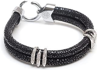 ZENGER Genuine Stingray Double Stack Bracelet