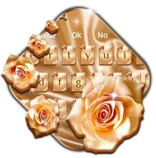 Silk Gold Rose Keyboard Theme