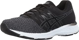 ASICS Mens Gel-Exalt 4 Running Shoe, Dark Grey/Black/White, 9 Medium US