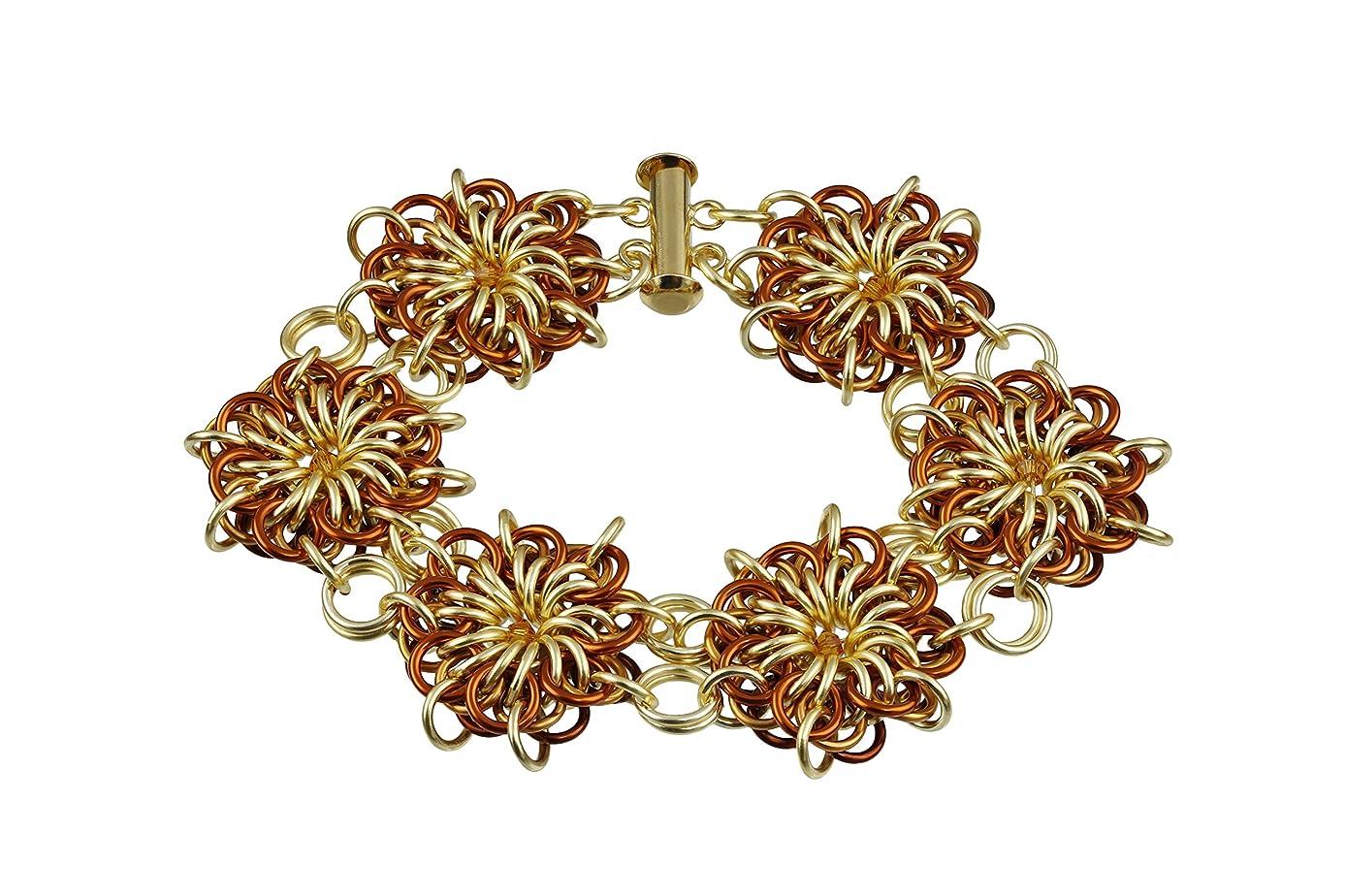 Weave Got Maille Flares Reversible Chain Maille Bracelet Kit, Goldilocks
