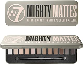 W7 | Mighty Mattes Eyeshadow Makeup Palette | Tones: Creamy Long Lasting Mattes | Colors: Natural Nudes, Grays, Browns, Smokes | Cruelty Free Eye Makeup For Women