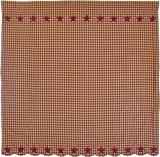 VHC Burgundy Star Shower Curtain
