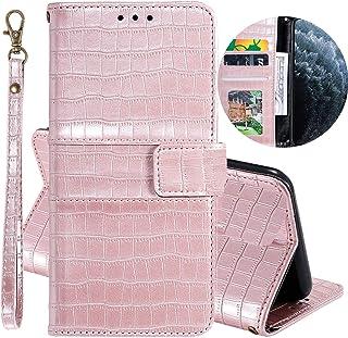 جراب قلاب من Mylne Crocodile لهاتف Xiaomi Redmi 8A، جراب محفظة من الجلد الصناعي القديم مع فتحات للبطاقات، مزود بوظيفة مسند...