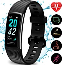Yemo Updated 2019 Version High-End Fitness Tracker HR, Activity Trackers Health Exercise Watch with Heart Rate and Sleep Monitor, Smart Band Calorie Counter, Step Counter, Pedometer Walking