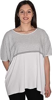 UNA su 10 T-Shirt Oversize, Made in Italy, Confortevole.