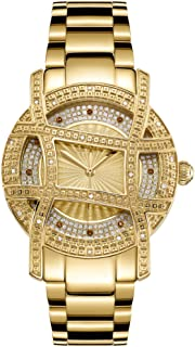 JBW Luxury Women's 10-Year Anniversary Olympia 20 Diamonds Cage Bezel Watch - JB-6214-10B