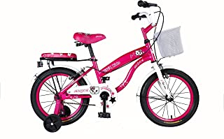 """Vaux Bicycle for Kids- Vaux Angel 16T Kids Bicycle for Girls. Ideal for Cyclist with Height (3'5"""" – 4') – Pink."""