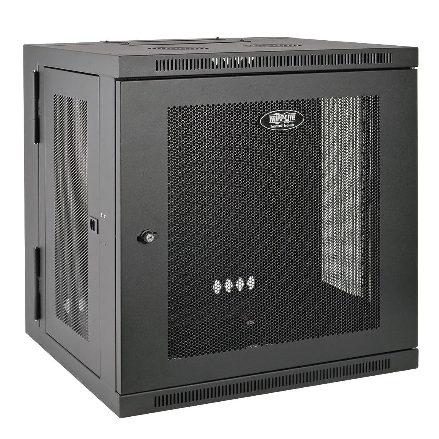 Tripp Lite 10U Wall Mount Rack Enclosure Server Cabinet, Hinged, 20.5