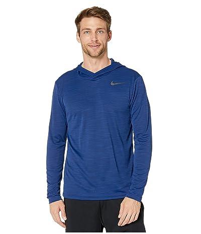 Nike Superset Top Long Sleeve Hoodie (Blue Void/Black) Men