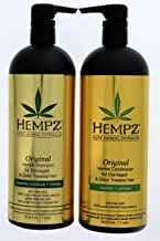 product image for Hempz Pure Herbal Extracts Original Herbal Shampoo & Conditioner 33.8oz for Damaged and Color Treated Hair Bundle