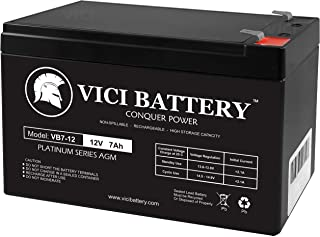 UPS Backup Battery Lighting Burglar Alarm fire Alarm PS1270 Many Uses Alarm System WKA12-7F Signage inverters Smoke Detector 12V 7Ah SLA Battery EB1270F1 for UB1270 2-Pack exit Signs