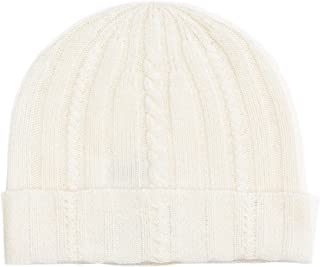 State Cashmere Cable Knit Cuffed Beanie 100% Pure Cashmere Foldover Hat•Ultimately Soft and Warm
