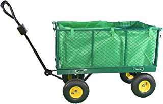 PRO-CARTS Garden Trolley Cart Truck Heavy Duty With Interior Cover Mesh Cart Barrow Trolley