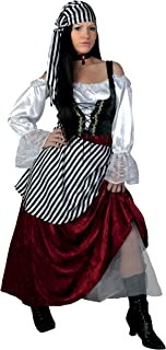 Women's Tavern Buccaneer Costume Plus Size Deluxe Pirate Wench Costume