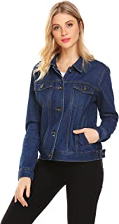Women's Denim Jacket Classic Button Down Jean Denim Jacket with Pockets
