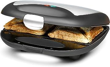 ROMMELSBACHER Sandwich Maker ST 710 – voor 2 sandwiches, 2-laags antiaanbaklaag, snel opwarmen, warmte-geïsoleerde handgre...