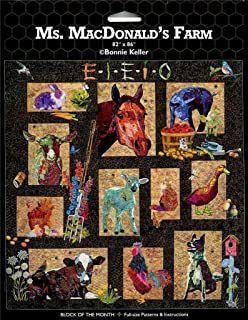 Ms MacDonald's Farm AQS Bonnie Keller BOM Animal Quilt Pattern Set