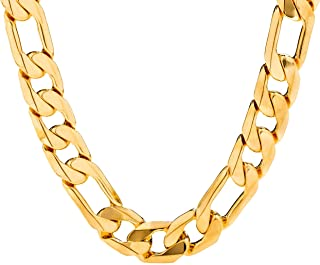 Lifetime Jewelry 11mm Figaro Chain - 20X More Real 24k...