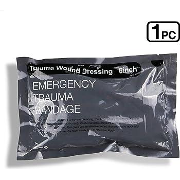 "6"" Israeli Bandage Vacuum Sterile Compression Bandages for Battle Wound Dressing, 1 Pack"