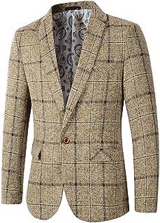 Beninos Men's Casual One Button Regular Fit Blazer Sport Coat Suit Jacket