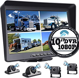 "$379 » 10.1"" 1080P Backup Camera Monitor & Built-in DVR for RV Truck Trailer Rear Side Front Reversing View Wired System FHD Imag..."