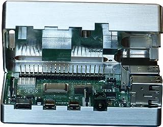 MANOUII Raspberry Pi 4 - Carcasa pasiva de aluminio y metal para Raspberry Pi 4, no requiere ventilador