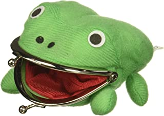AWG Green Frog Gama-chan Wallet Coin Purse Pouch   Cute Anime Funny Cosplay Plush (Green)