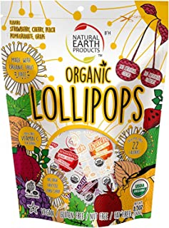 Organic Lollipops Assorted Flavors, 8.5 Ounce