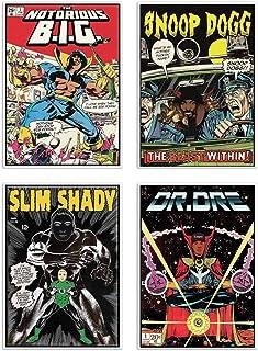 WALL EDITIONS 4 Art-Posters 20 x 30 cm - Rappers Comics - David Redon - Format :