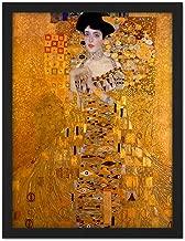Wee Blue Coo Klimt Portrait Adele Bloch Bauer Artwork Framed Wall Art Print 18X24 Inch Retrato Pared