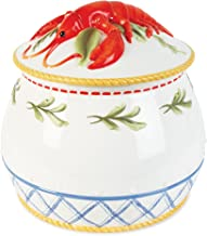 Clam Bake Collection, Lidded Soup Tureen, White/Blue/Yellow