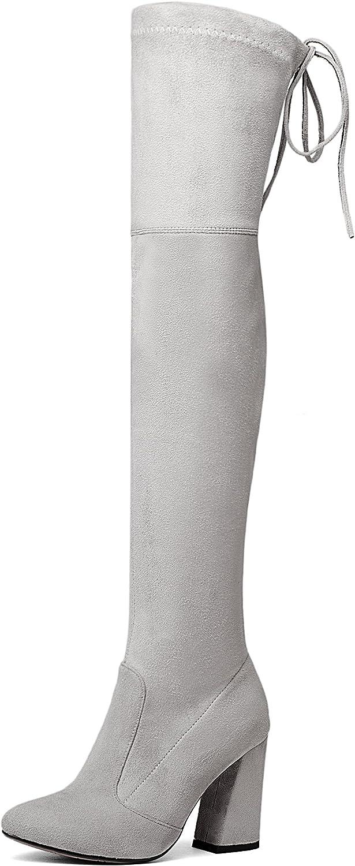 DoraTasia Artifical Suede High Heels Women Boots