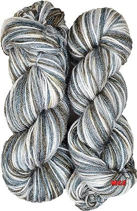 M.G Enterprise Grey Mix 200 Gm Wool Ball Hand Knitting Wool / Art Craft Soft Fingering Crochet Hook Yarn, Needle Acrylic Knitting Yarn Thread Dyed