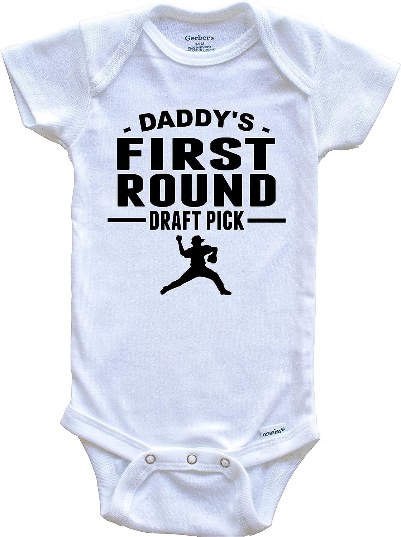 baby Onesie long sleeve Daddy/'s Number One Draft Pick #1 Soccer short sleeve