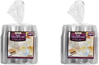 Daily Chef Clear Plastic Cups, 9 oz. - 480 Cups