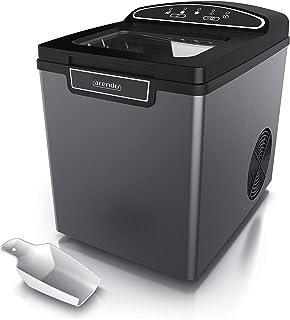 Arendo 722304981722 Machine à glaçons en Acier Inoxydable, Design Cool Grey