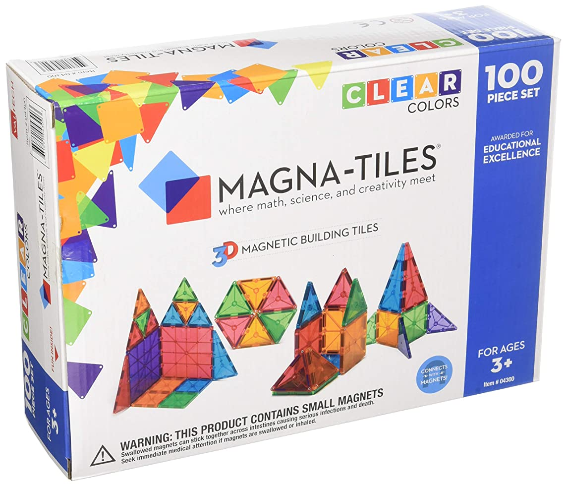 Valtech Company Magna-Tiles 100-Piece Clear Colors Set