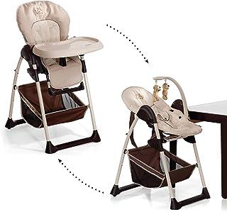 ドイツの名門ハウク・シッティン・リラックス<HAUCK Sit'n Relax>多機能ハイローチェア 新生児から体重15 kgまで シート2モード 高さ多段階調整 吊り飾り 室内移動 保証2年