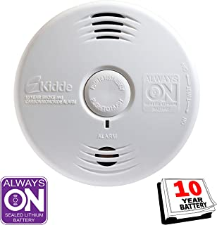 Kidde Smoke and Carbon Monoxide Detector Alarm with Voice Warning | Hardwired w/10 Year Lithium Battery Backup | Interconnectable | Model # i12010SCO