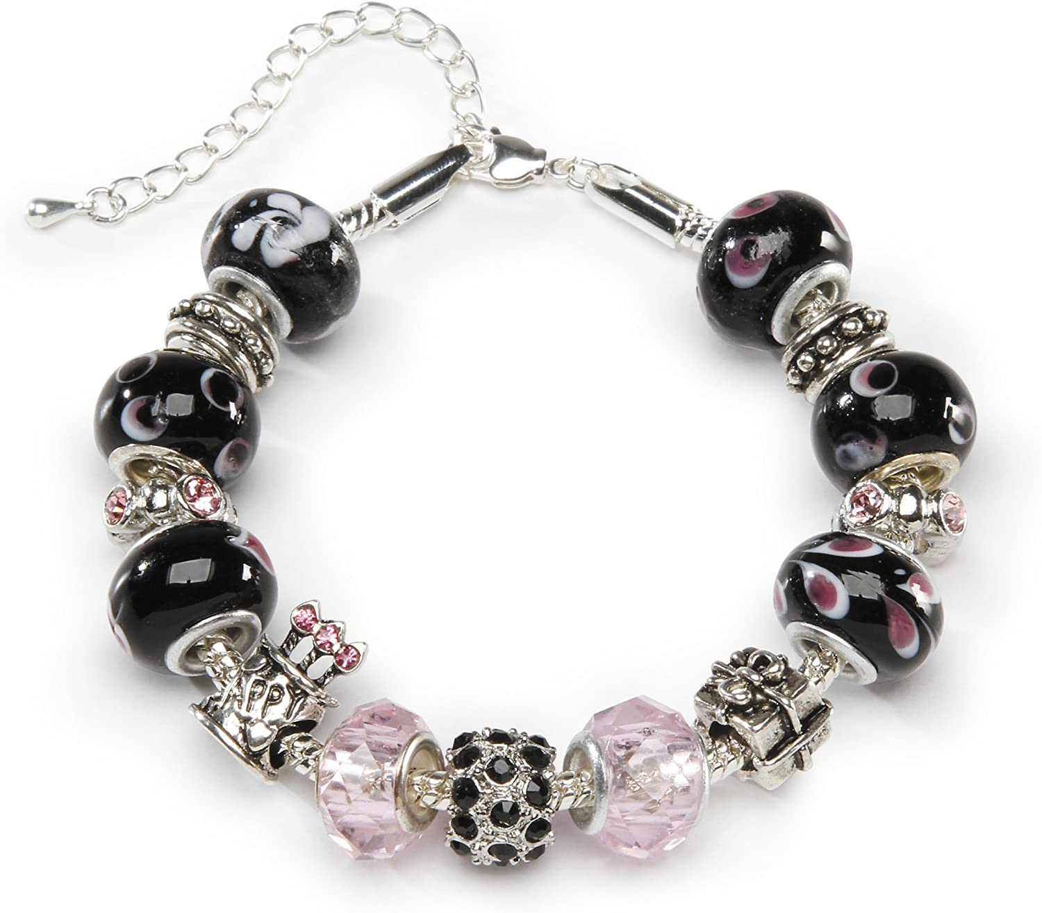 Darice 1999-5285 Mix and Mingle Beads and Bracelet Kit - Birthday, Multicolor, One Size, 1ct