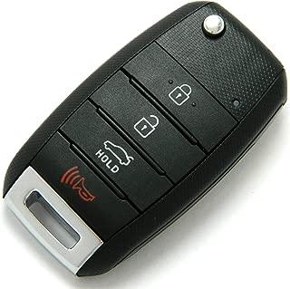 New Oem 4 Button Kia Forte Flipkey Transmitter W/ Duracell Battery And Uncut Blade