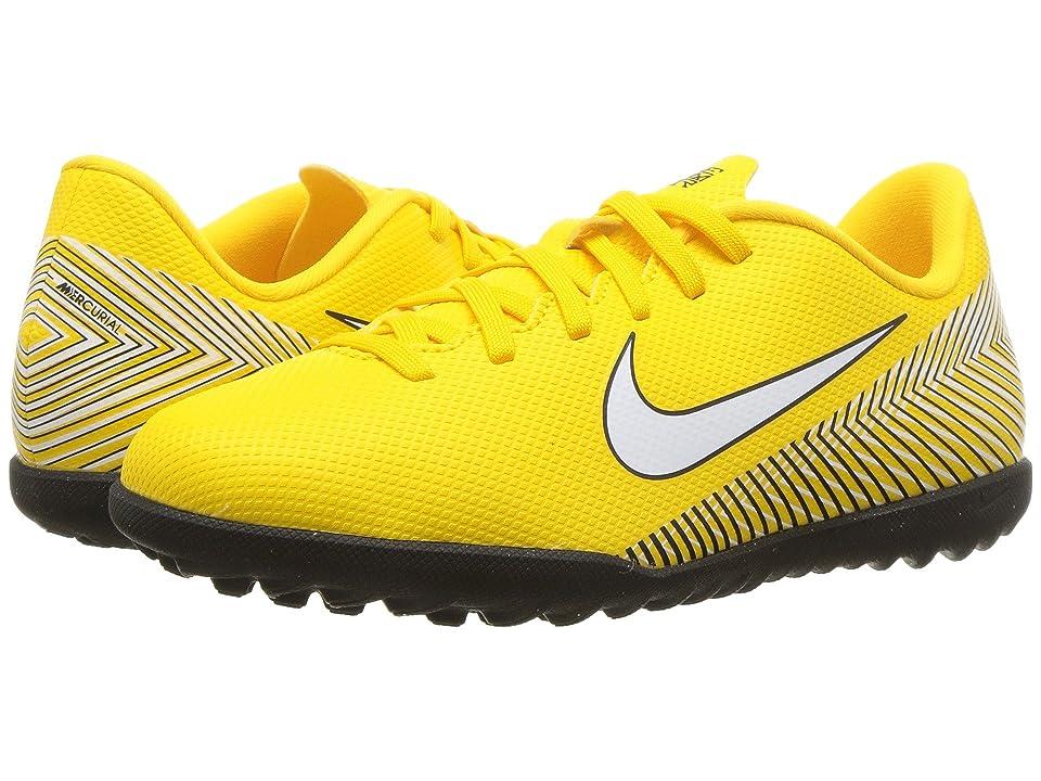 Nike Kids Neymar Jr. VaporX 12 Club TF Soccer (Little Kid/Big Kid) (Amarillo/White/Black) Kids Shoes