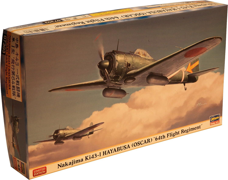 Hasegawa 07303 - Nakajima Ki-43-I Hayabusa - Oscar B0072J6O84 Elegante und stabile Verpackung  | Lebendige Form