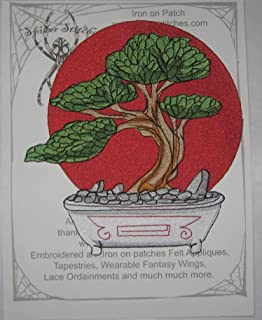 Epic Bonsai Tree Iron on Patch Large size