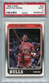 1988 Fleer Scottie Pippen Rookie Chicago Bulls #20 PSA 9 MINT (Graded Basketball Cards)