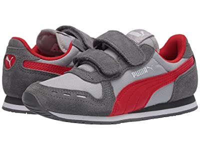 Puma Kids Cabana Racer NL V (Toddler) (High-Rise/Castlerock/High Risk Red) Boys Shoes