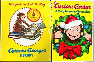 Curious George's Library 12 Volume Book & Curious George: A Very Monkey Christmas Cartoon DVD Holiday Bundle